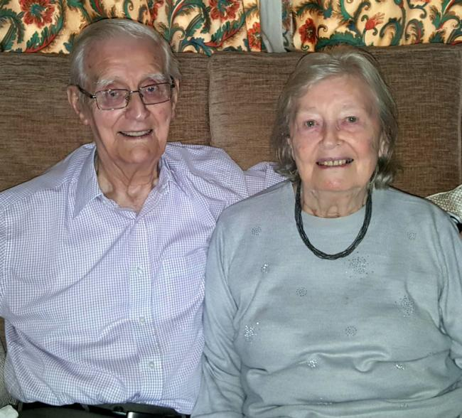 Eddie and Dorothy Mealor celebrated their 70th wedding anniversary this week