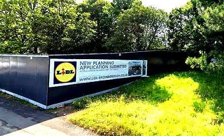 Site of Lidl's proposed new store in Bromborough, picture taken at time of last application.