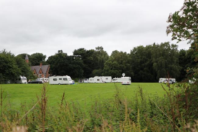 The field in Bromborough where the travellers have moved to. Photo: Richard Garnett