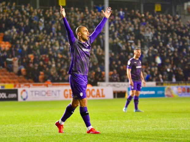 Wirral Globe: James Vaughan is reported to be a Tranmere target for a permanent move. Photo: Tony Coombes