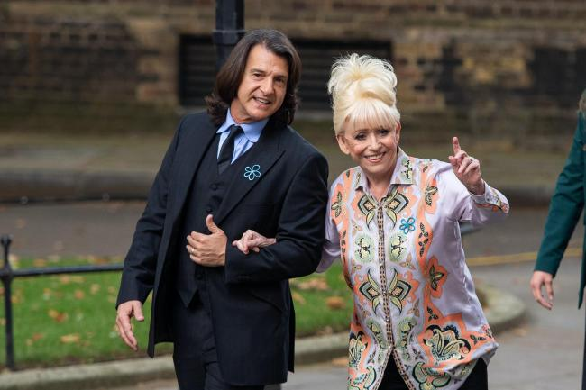 Scott Mitchell and Barbara Windsor arm-in-arm