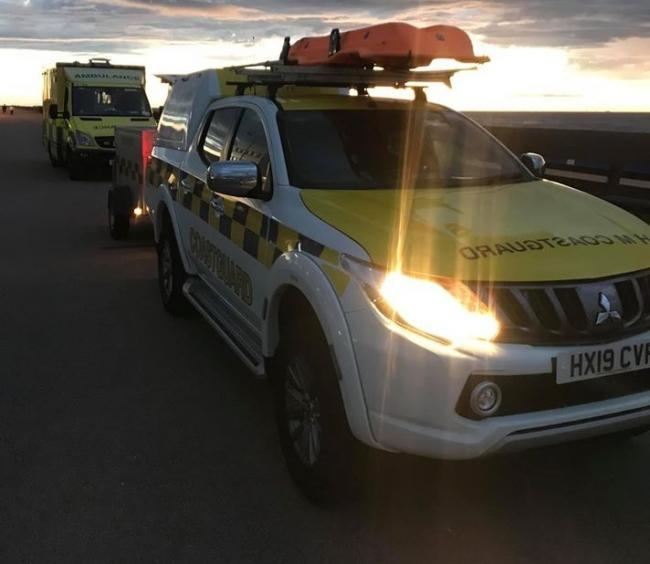 Wirral Coastguard Rescue Team, New Brighton Lifeboat and paramedics were called as children were cut off by the tide near Perch Rock in New Brighton