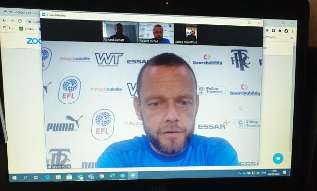 Jay Spearing appears at Tranmere's first online press conference