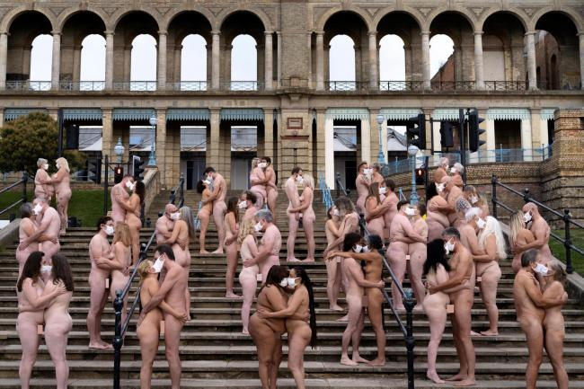 Everyone Together by Spencer Tunick was commissioned for Sky Arts