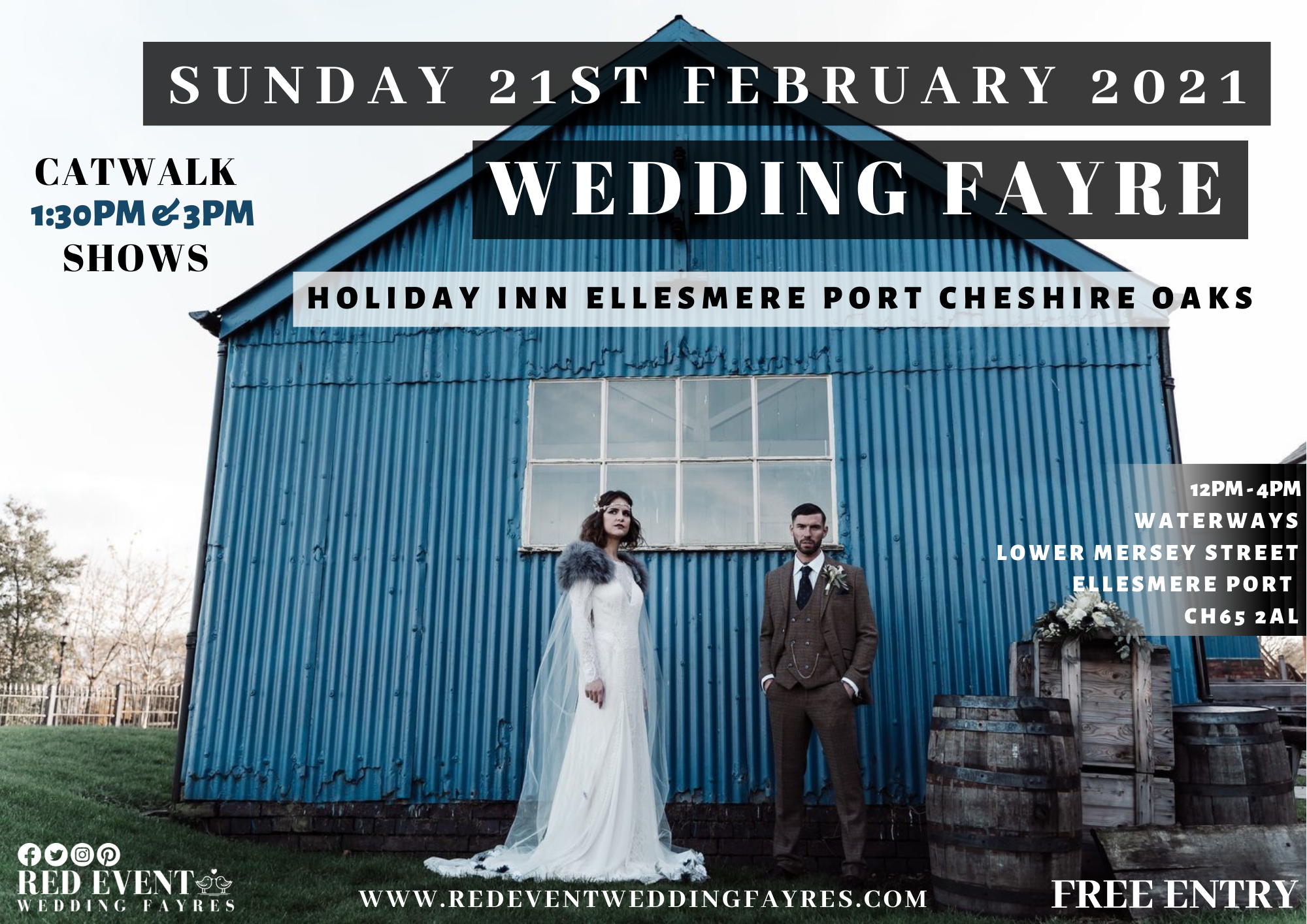 Wirral Wedding Fayre on the Canal at Holiday Inn Ellesmere Port