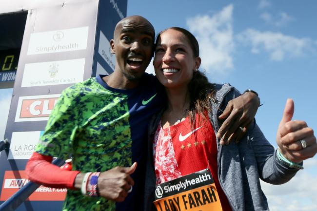 Sir Mo Farah and wife Tania Farah