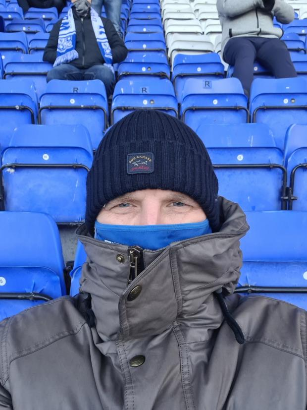 Wirral Globe: Simon Crabtree attended the match on his own and was in the ground well before kick off