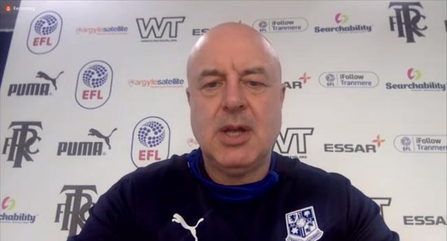 Keith Hill spoke via video call in his press conference ahead of Saturday's match against Mansfield