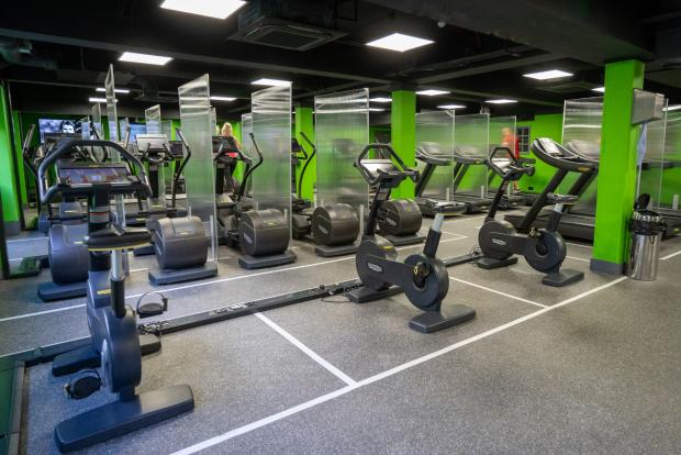 Wirral Globe: Space markers have been installed at Village Hotel's gyms