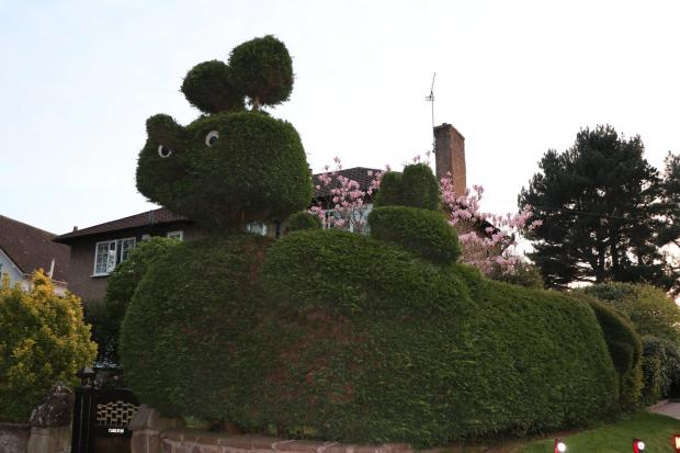 Wirral Globe: This bizarre garden masterpiece was the work of the late John Sanderson. His wife said he had a 'weird sense of humour'
