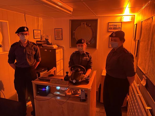 Sea Cadets in Birkenhead have built a ship simulator to help them master their navigation skills during lockdown