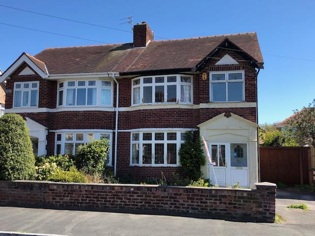 The three-bed property on Leighton Road in Meols, Wirral