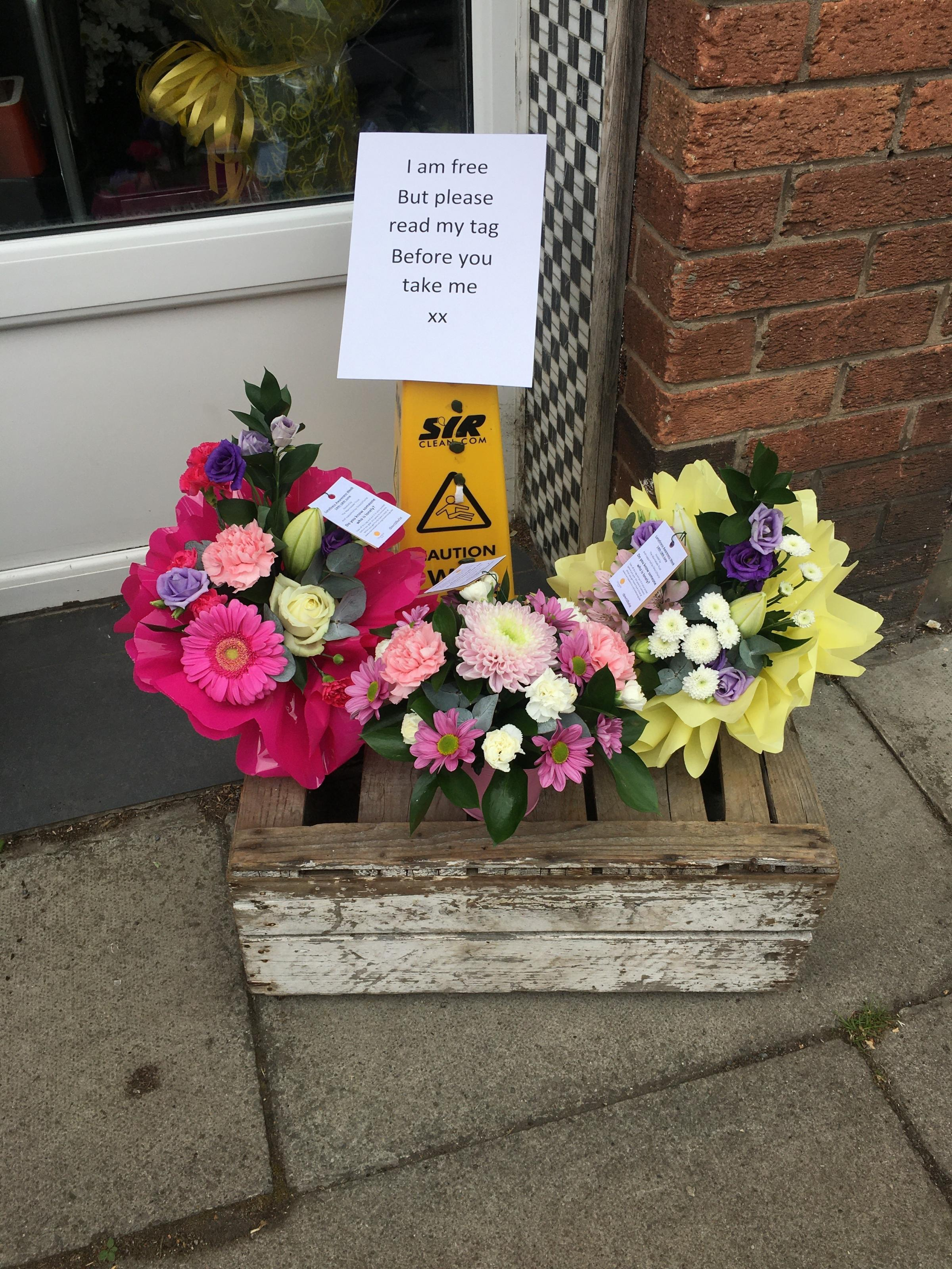 Pensby florist puts smile on people's faces with random act of kindness