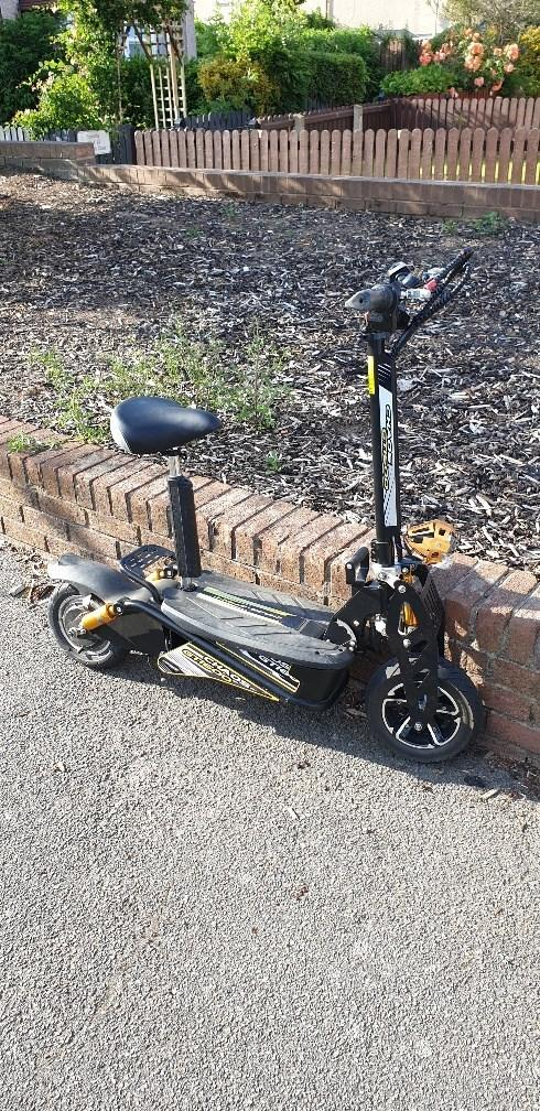 Officers seized the scooter Pic: Wirral Police