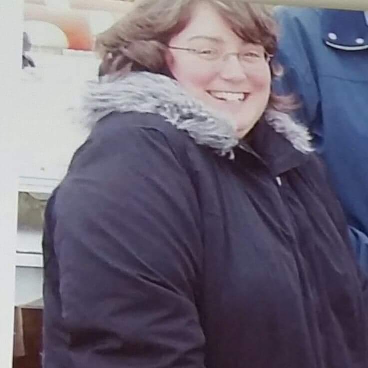Lynne before her weightloss