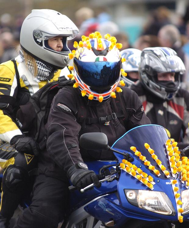 Bikers at last year's official Egg Run