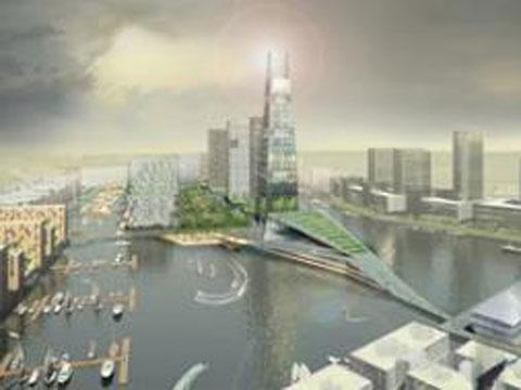 Artist's impression of Wirral Waters scheme