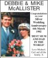 Wirral Globe: DEBBIE MIKE MCALLISTER BEST MUM AND DAD THE WORLD