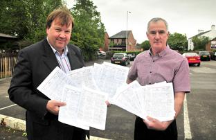 Petition Collectors: Simon Collister and Steve Lewis