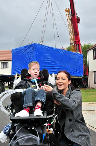 Four-year-old Scott Smith with his mum, Chantelle