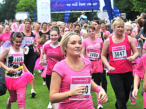 Participants in last year's Wirral Race For Life
