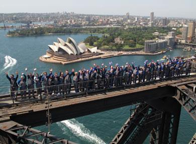 BridgeClimb welcomes Daybreak Down Under with a Climb to the top of Australia's icon!