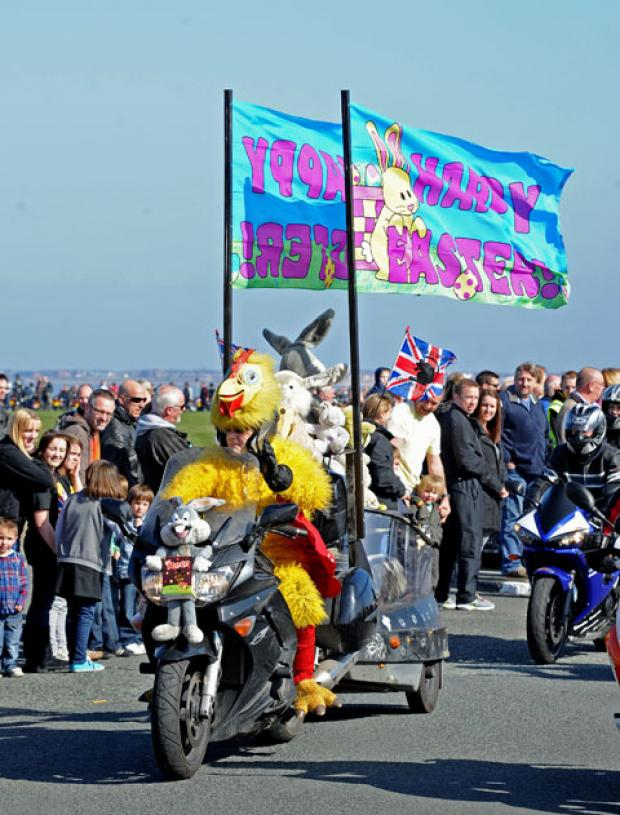 The official Egg Run gets underway at New Brighton last year