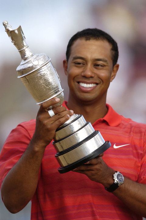 Tiger Woods during Wirral's Open Golf championship in 2006
