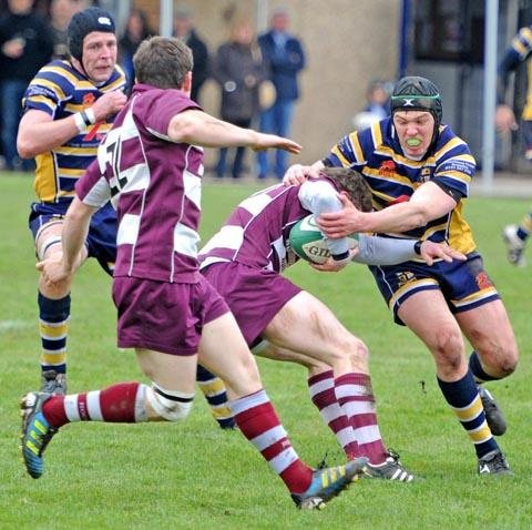 Action from Saturday's meeting between Anselmians and Rochdale. Pic: Paul Heaps