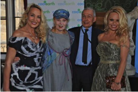 Jerry Hall, Vivienne Westwood and Pamela Anderson celebrate Frank Field's rainforest charity's birthday