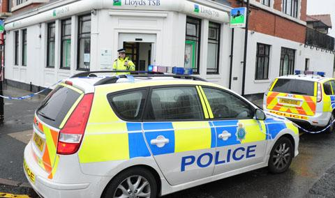 Robbery at Wirral bank