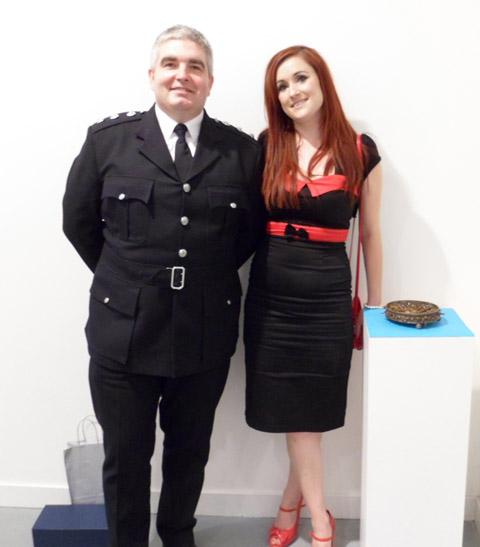 Station Manager Rob Hamill after she was announced as the winner. Picture: MFRS
