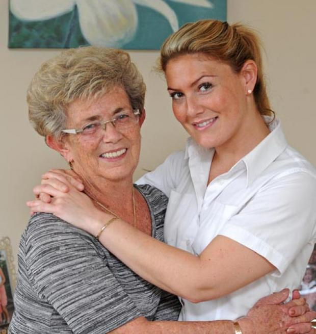 Transplant patient Pat Goulbourn with her daughter, Claire Goulborn.