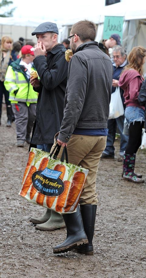 Braving the mud at Wirral Food and Drink Festival. Picture: Paul Heaps
