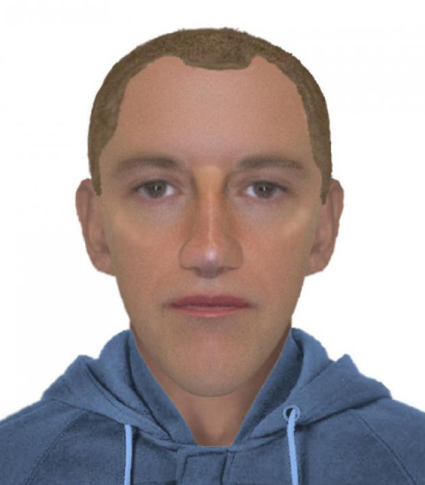 E-fit of man wanted in connection with the burglary