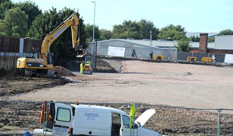 Work under way on Birkenhead North carpark