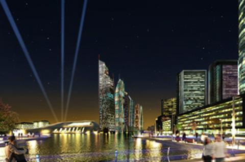 Wirral Globe: Artist's impression of Wirral Waters development