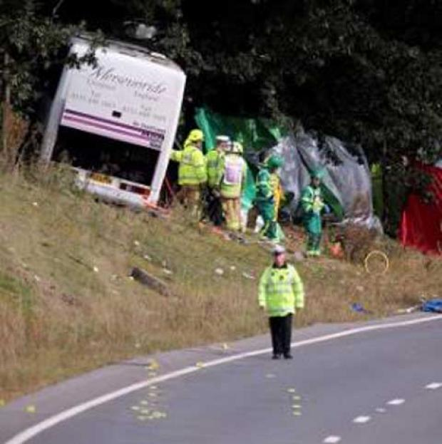 Three dead as festival coach crashes returning to Merseyside