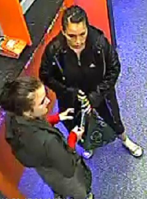 CCTV showing the women wanted by police