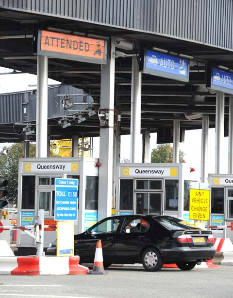 Paying the price at Queensway Tunnel toll booths
