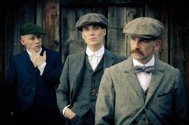 Wirral Globe: Cillian Murphy (centre) stars with Sam Neill in Peaky Blinders, being filmed in the Bradford District