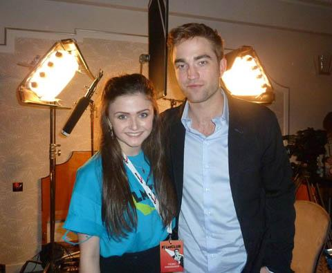 Wirral teenager interviews stars of new Twilight movie - Emily Hall with star Robert Pattinson