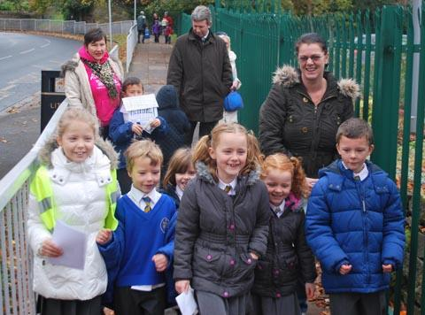 Pupils from Oxton Saviours Primary School