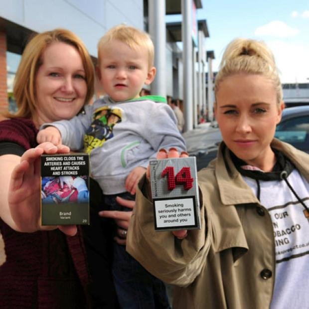 Brombrough mum Alison Theobold signs up for the Plain Packs Protect campaign