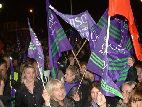 Flashback to anti-cuts protest at Wallasey Town Hall in November 2012