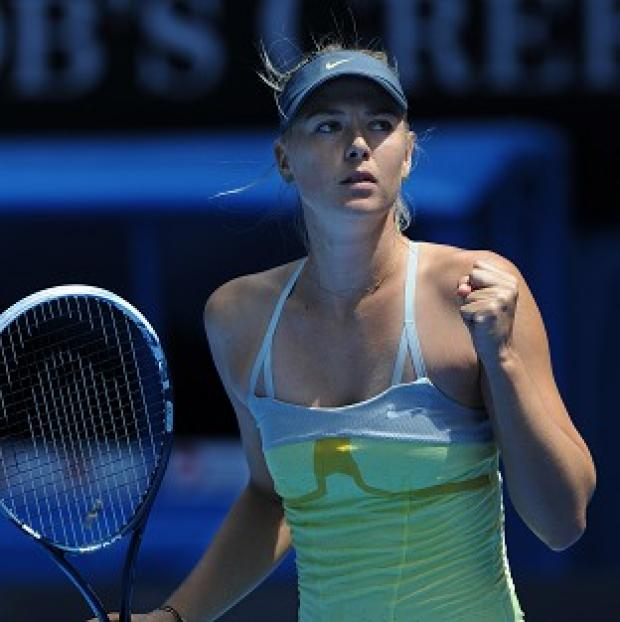 Maria Sharapova, pictured, defeated Olga Puchkova in their first-round match at the Australian Open (AP)
