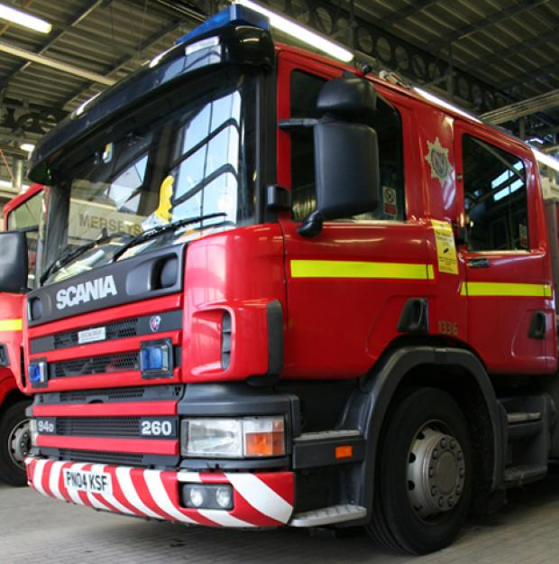 Merseyside Fire & Rescue Service was called out to Bidston Moss