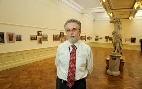 Colin Simpson inside the gallery. Picture: Vince Clegg / Creative Photography