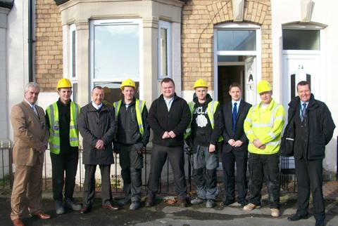 Staff and trainees from Lockwoods team with members of Wirral Council's Housing Standards team.