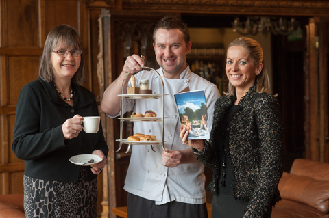(l-r) Lorna Tyson, Stewart Warner and Claire Jones launching the guide at Hillbark.